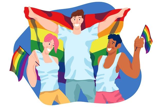 Pride day people design