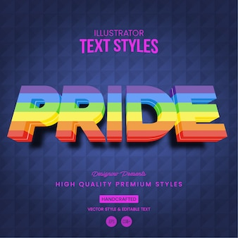 Pride text style