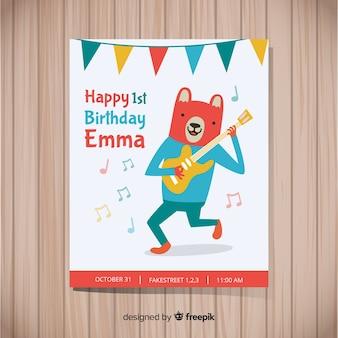 Prima carta festa di compleanno