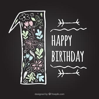 Prima lavagna di compleanno