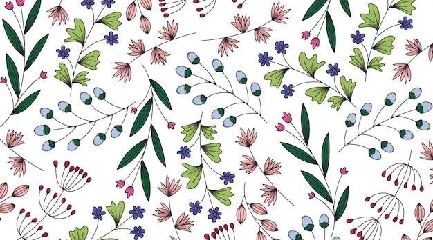 Primavera banner sfondo di fiori