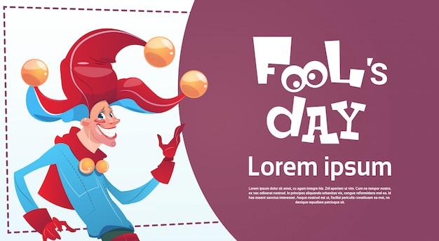 Primo biglietto d'auguri happy holiday fool day