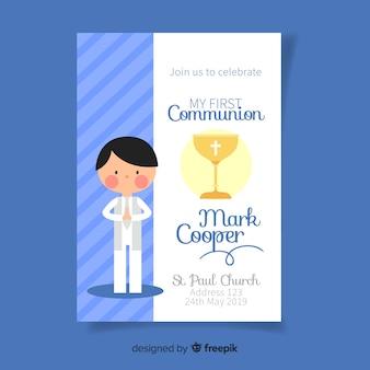 Primo modello di invito alla comunione