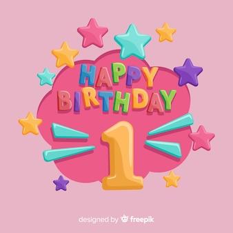 Primo modello di numero del volume del compleanno