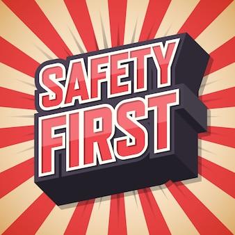 Primo poster di sicurezza, fumetto,