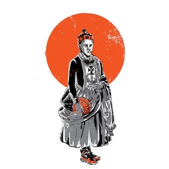 Principe della palla da basket