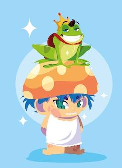 Principe ranocchio con personaggio avatar fungo