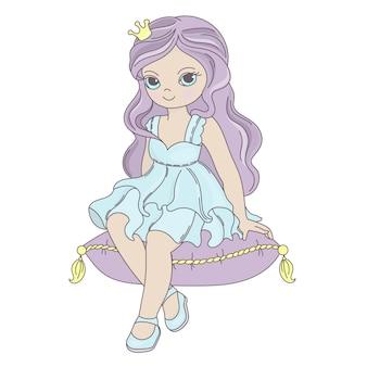 Principessa fiaba bella ragazza cartone animato