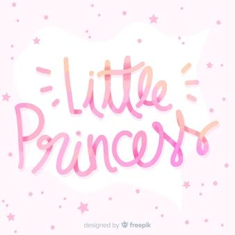 Principessa lettering sfondo con piccole stelle