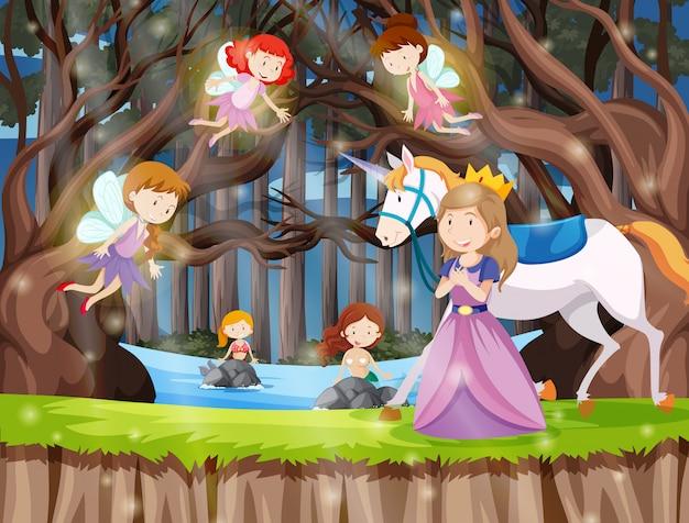 Principessa nella terra della fantasia