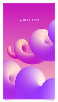 Priorità bassa a spirale di colore dei batteri 3d con lo spazio del testo