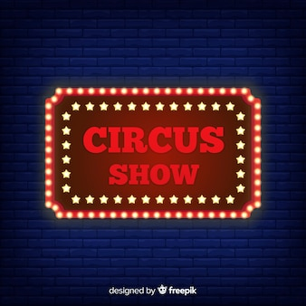 Priorità bassa al neon del segno del circo