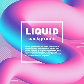Priorità bassa al neon di vettore di gradiente alla moda di flusso liquido