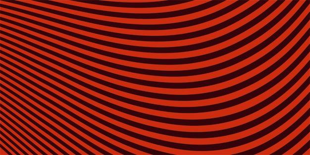 Priorità bassa alla moda rossa astratta della bandiera dell'onda