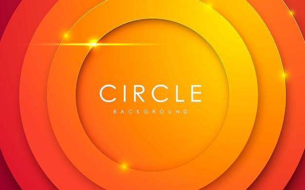 Priorità bassa arancione astratta del papercut del cerchio 3d