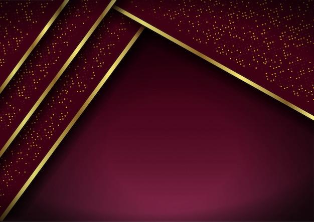 Priorità bassa astratta 3d con gli strati rossi. illustrazione geometrica