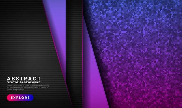 Priorità bassa astratta 3d con il gradiente viola e dentellare su spazio scuro