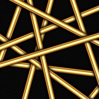 Priorità bassa astratta con il disegno casuale delle barre di oro
