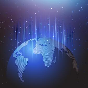 Priorità bassa astratta con un disegno del globo del mondo