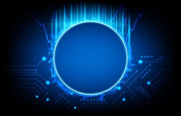 Priorità bassa astratta del circuito stampato blu, concetto di scienza di fantascienza