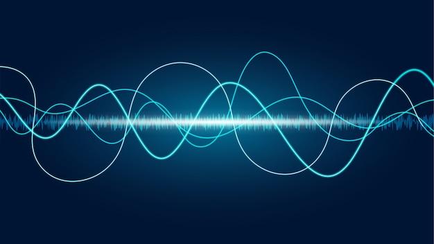 Priorità bassa astratta del soundwave della linea