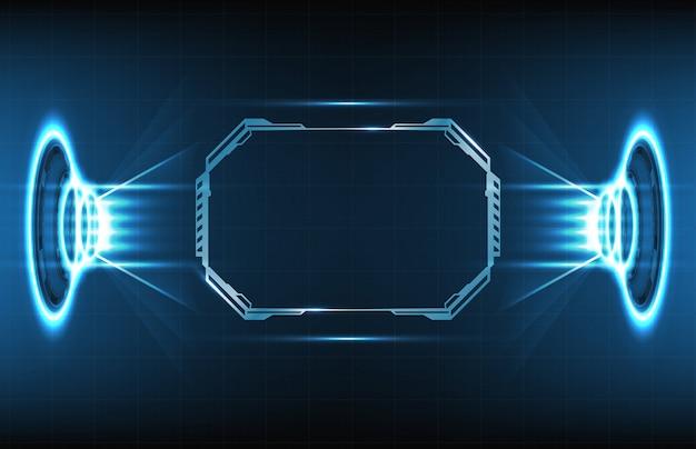 Priorità bassa astratta dell'esposizione futuristica del hud di fantascienza