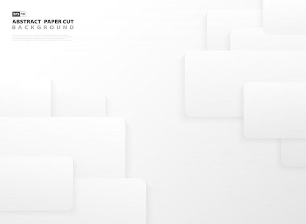 Priorità bassa astratta della decorazione di progettazione del modello del quadrato grigio e bianco di pendenza.