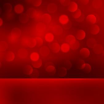 Priorità bassa astratta della luce rossa di natale