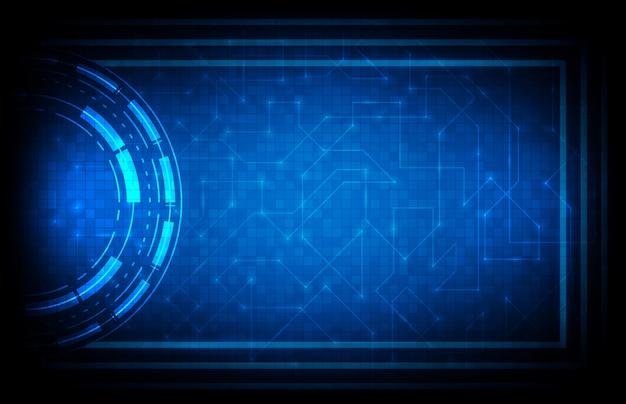 Priorità bassa astratta della priorità bassa futuristica blu dell'interfaccia di fi di sci del hud