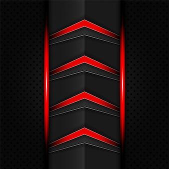 Priorità bassa astratta delle frecce di tecnologia di colore rosso e nero