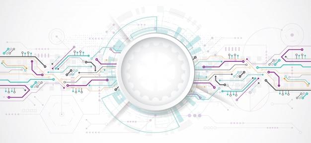 Priorità bassa astratta di disegno 3d con tecnologia