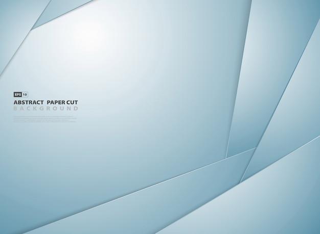 Priorità bassa astratta di disegno del reticolo di figura del taglio della carta blu di gradiente.