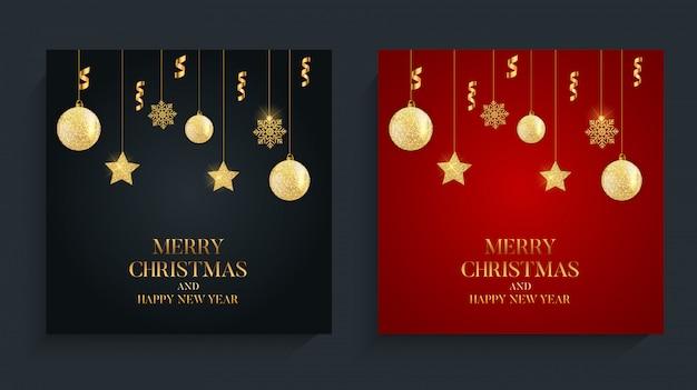 Priorità bassa astratta di nuovo anno di festa e buon natale.