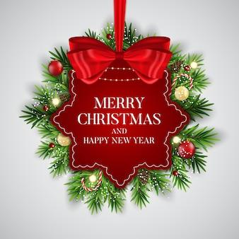 Priorità bassa astratta di nuovo anno di festa e buon natale