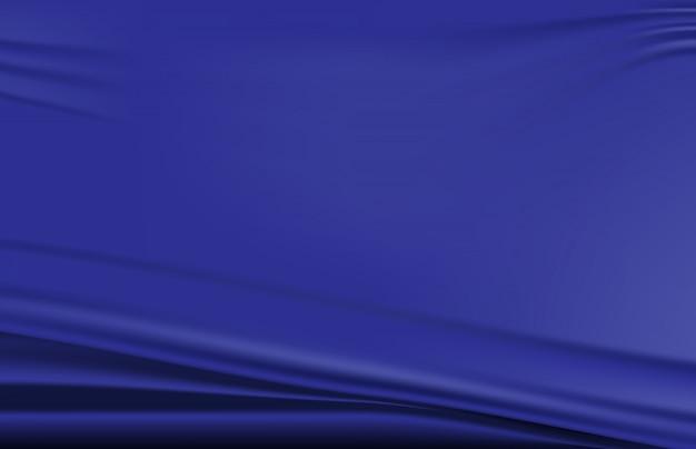 Priorità bassa astratta di struttura piegata blu dell'onda del tessuto