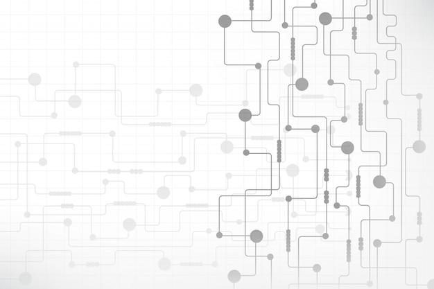 Priorità bassa astratta di tecnologia con il circuito futuristico