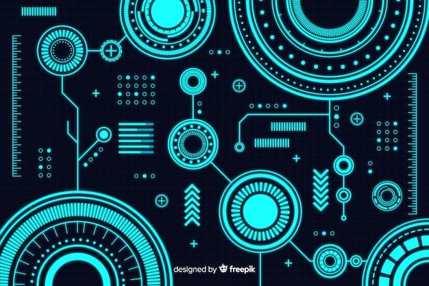 Priorità bassa astratta di tecnologia nello stile del hud
