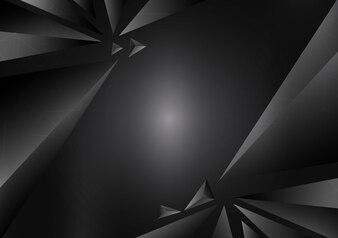 Priorità bassa astratta geometrica nera di vettore con lo spazio della copia