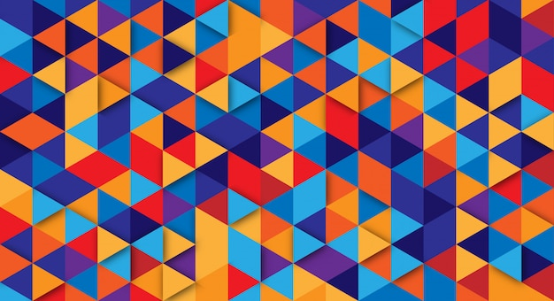 Priorità bassa astratta moderna con elementi del triangolo. sfondo con colori retrò per poster, banner e siti web di landing page.