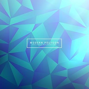 Priorità bassa astratta moderna del poligono dell'azzurro di teal