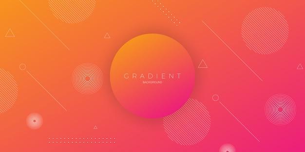 Priorità bassa astratta moderna in una gradazione rosso-arancione con un cerchio