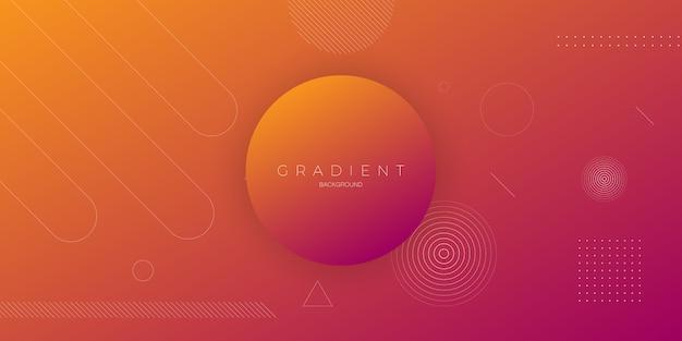 Priorità bassa astratta moderna nel colore arancione viola con il cerchio