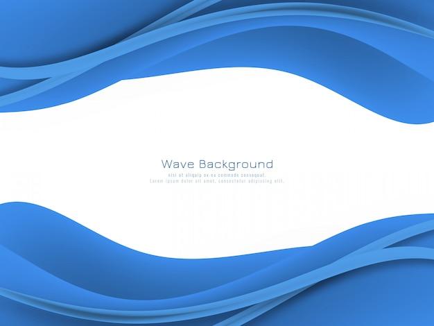 Priorità bassa blu astratta dell'onda di colore