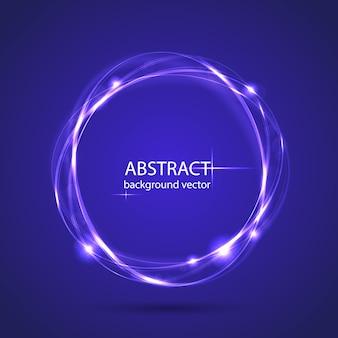 Priorità bassa blu astratta di effetto della luce di movimento