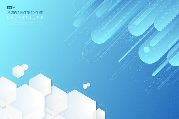 Priorità bassa blu astratta di gradiente di tecnologia geometrica