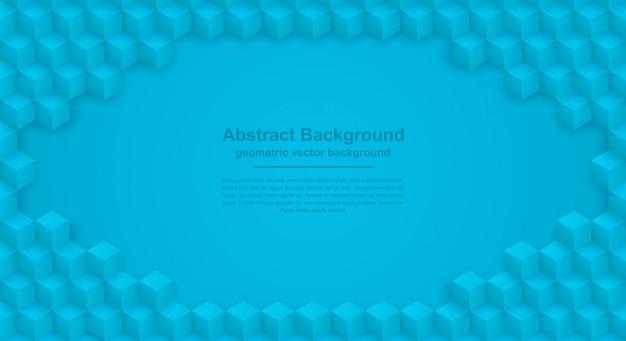 Priorità bassa blu astratta di struttura con le forme di esagono.