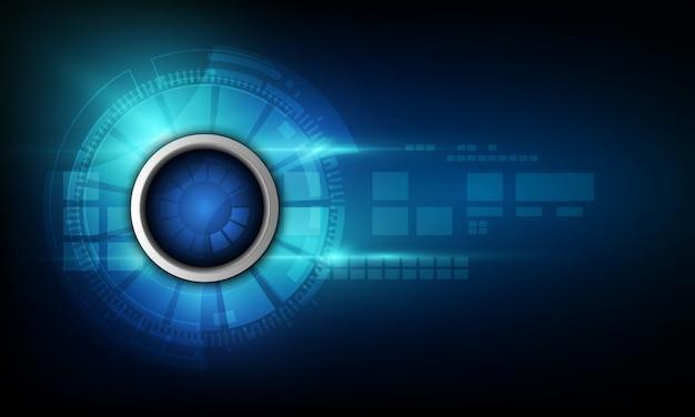 Priorità bassa blu astratta di tecnologia di internet di ciao velocità