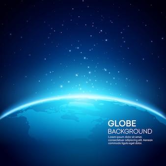 Priorità bassa blu della terra del globo