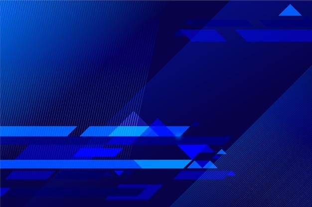Priorità bassa blu futuristica astratta con le righe lucide