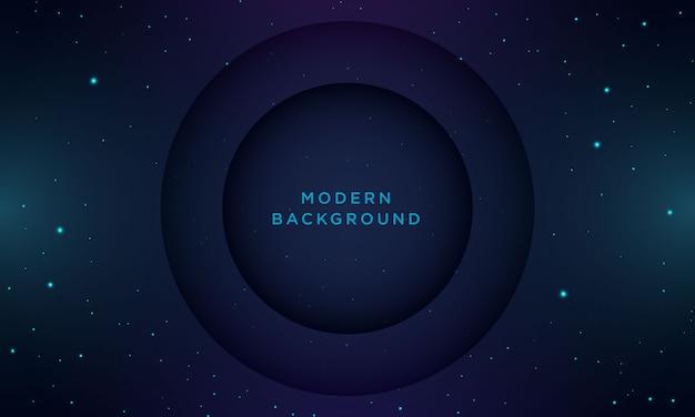 Priorità bassa blu scuro minima astratta con struttura e cerchio